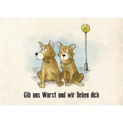 Postkarte: Bobik und Tobik